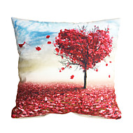 3D Design Print  Red Maple Tree Decorative Throw Pillow Case Cushion Cover for Sofa Home Decor Polyester Soft Material
