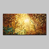 Ručně malované Abstraktní Krajina Květinový/Botanický motiv Abstraktní krajinkaModerní Jeden panel Plátno Hang-malované olejomalba For