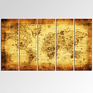 Fantasia / Tempo libero / Fotografia / Stravagante / Musica / Patriotico / Moderno / Romantico / Mappe Print Canvas Cinque PannelliPronto
