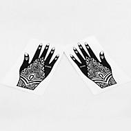 India Temporary PVC Henna Tattoo Sticker Printing Airbrush Tattoo Stencils