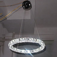 LED Crystal Pendant Light Lighting Modern Single D40CM Three Sides K9 Crystal Indoor Ceiling Lights Lamp Fixtures