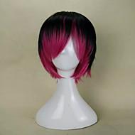 nova cor mix elegante (preto&vermelho) peruca sintética reta curta peruca de cabelo para festa