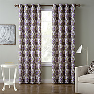 Chadmade SOFITEL Heat Transfer Print Classic Traditional - Nickle Grommet - Purple + Gold