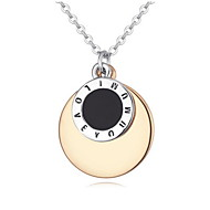 Charms Double Round Circle Pendant Necklaces Women Trendy Jewelry 2016 Famous Brand Design