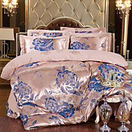 Floral Silk 4 Piece Duvet Cover Sets