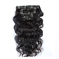 8A 100% Remy Natural Clip In Human Hair Extensions Brazilian Virgin Hair Clip In Extension Body Wave