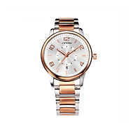 SINOBI® Mens Business Wrist Quartz Watches Rose Gold Steel Automatic Wristwatches Gents Dress Waterproof Watch Wrist Watch Cool Watch Unique Watch