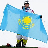 New 90*150Cm Hanging Kazakhstan National Flag Banner Outdoor Indoor Home Decor(Without flagpole)