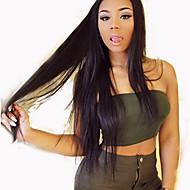 silkeaktig rett menneskehår parykker jomfru brasilianske hår fullt blonder parykk for svarte kvinner i full blonder menneskelig hår