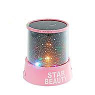 Sternenhimmel Projektor bunten LED-Nachtlicht (gelegentliche Farbe, angetrieben durch 3 AA-Batterie)