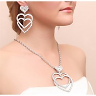 Gorgeous Alloy Rhinestone Wedding Bridal Necklace and Earrings Jewelry Set