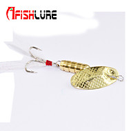 "Afishlure Metal Bait Jigs Buzzbait & Spinnerbait Spoons Trolling Lure 4pcs 7g/1/4 oz. 80mm /3-1/4"" Gold MetalSea Fishing"