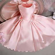 Ball Gown Knee-length Flower Girl Dress - Satin Sleeveless Jewel with