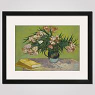 Paisagem / Floral/Botânico / Natureza Morta / Famoso / Lazer Impressão de Arte Emoldurada / Quadros Emoldurados Wall Art,PVC Preto