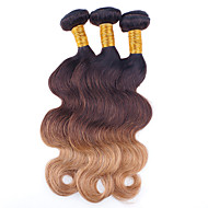 3 Pieces Wavy Human Hair Weaves Brazilian Texture 100g/Piece 12-28 Human Hair Extensions