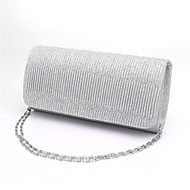 Women Evening Bag Glitter All Seasons Wedding Event/Party Formal Minaudiere Ruffles Magnetic Blue Gold Black Silver Red
