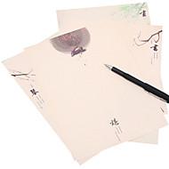 kiinalainen elin shakki (joukko 8 kappaletta maalaus paperissa, satunnainen kuvio)