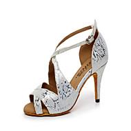 Zapatos de baile (Plata) - Danza latina/Salón de Baile - Personalizados - Tacón Personalizado