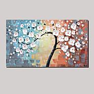 håndmalte oljemaleri etterlater hvite heldig tre abstrakte malerier med strukket ramme