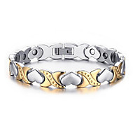 Magnetic Therapy Bracelet Pain Relief Silver Gold-Stone Women Love Stainless Steel Fashion Jewelry Christmas Gifts Link Chain Bracelet