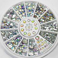 4 grootte 300pcs nail art tips kristal glitter strass decoratie wiel