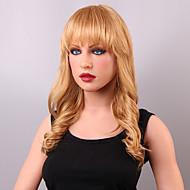 スタイリッシュなボディ波毛むくじゃらの波状人間の処女レミーの手縛らトップキャップレスの女性の髪のかつら