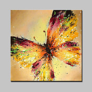 Lager Hand Painted Modern Butterfly Oil Painting On Canvas Wall Art Picture For Home Whit Frame Ready To Hang 100x100cm