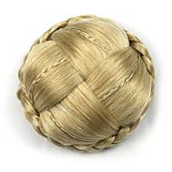 kinky lockigt guld europa brud människohår Capless peruker chignons g660232-l 1003