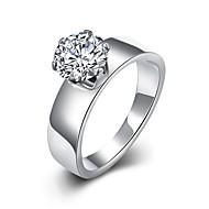 טבעות רצועה טבעות הצהרה טבעת זירקון זירקוניה מעוקבת אופנתי סגנון בוהמיה מתכווננת מקסים גדילים לבן תכשיטים חתונה Party יומי קזו'אל ספורט