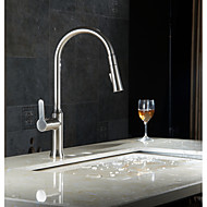 Single Lever Pull-down Kitchen Faucet Pull Out Wet Sink Bar Faucets Brushed Nickel