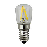 2w e14 ledグローブ電球s14 2コブ150-200 lm暖かい白dimmable ac 220-240 v 1個