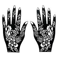 Tatuajes con Aerógrafo-Non Toxic / Modelo / Brillante / Pistola / Parte Lumbar / Alheña