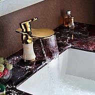 Marble Basin Sink Vanity Mixer Taps Deck Mount Single Handle One Hole Ti-PVD Finish