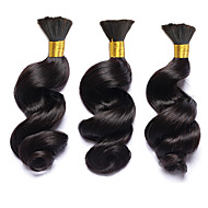 3pcs/lot Loose Wave Hair Bulk Brazilian Virgin Hair Loose Wave Braiding Hair Bulk No Weft For Micro Braids Braiding Hair