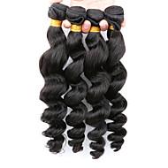Az emberi haj sző Mongol haj Laza hullám 12 hónap 4 darab haj sző