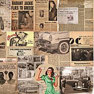 Mural Art Deco Papel de parede Retro Revestimento de paredes,Tela Sim