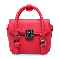 Women-Formal / Office & Career-Cowhide-Satchel-Red / Gray / Black