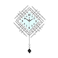 Modern Creative Fashion Pendulum Metal Mute Wall Clock
