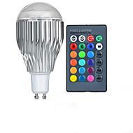 10W GU10 LED Λάμπες Σφαίρα A50 1 LED Υψηλης Ισχύος 600-800 lm RGB Τηλεχειριζόμενο AC 85-265 V 1 τμχ