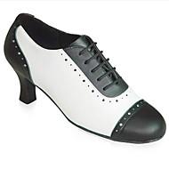 Scarpe da ballo-Personalizzabile-Da donna-Moderno / Scarpe da swing-Quadrato-Sintetico-Nero