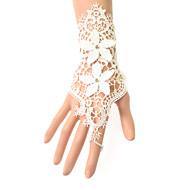 Polslengte Zonder vingers Handschoen Kant Bruidshandschoenen Feest/uitgaanshandschoenen Lente Zomer Bloemen Borduurwerk