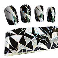 100cmx4cm transferência térmica folha poland manicure moda DIY Dicas de decoração de unhas adesivos stzxk11
