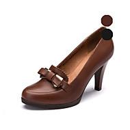 Aokang Women's Shoes Leather Stiletto Heel Heels/Comfort/Pointed Toe/Closed Toe Pumps/HeelsWedding/Outdoor/Office