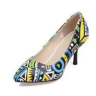 Femme Chaussures à Talons A Bride Arrière Gladiateur Confort Nouveauté Cuir Nappa Cuir Verni Printemps Eté AutomneMariage Décontracté