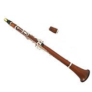 rocou clarinette b la clarinette importés acajou boutons d'argent configuration de clarinette clarinette