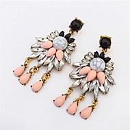 Hot Famous Design Lady Bib Statement Rhinestone Clear Crystal Long Ear Earring