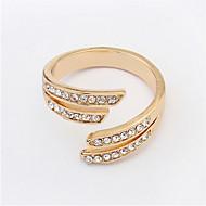 New Super Hot Shiny Slim Open Rhinestone Ring For Women Personalized Fashion Jewelry