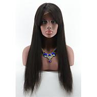 lijmloze volledige kant pruiken voor zwarte vrouw 7a Braziliaanse human hair pruiken 130 dichtheid zijdeachtige rechte kant pruiken met