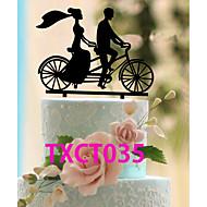 Figurky na svatební dort Nepřizpůsobeno Klasický pár Akryl Svatba Černá Klasický motiv 1 OPP