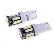 BA9S T10 5W LED Car Clearance Lamp White Light 6000K 400lm SMD 7020 Decoding Error-Free (2PCS/DC 12V)